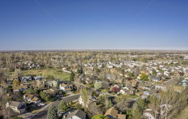 aerial landscape of Colorado city Stock photo © PixelsAway