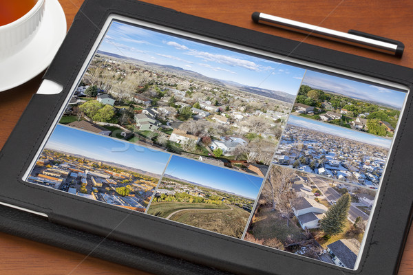 aerial view of real estate in Fort Collins Stock photo © PixelsAway