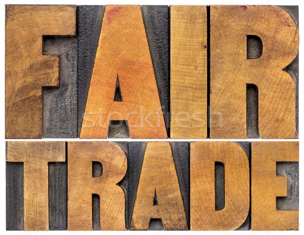 Adil ticaret matbaacılık kelime soyut yalıtılmış Stok fotoğraf © PixelsAway
