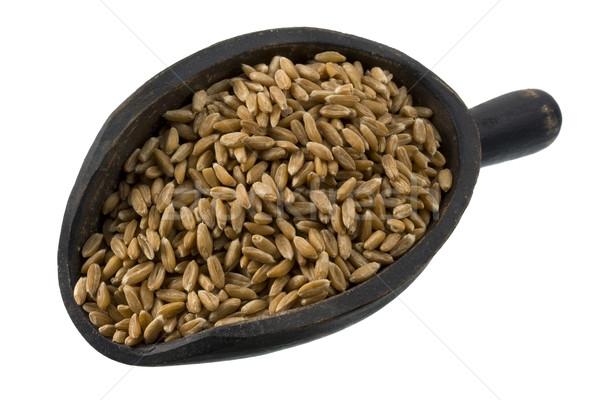 Kepçe buğday karpuzu rustik ahşap yalıtılmış Stok fotoğraf © PixelsAway