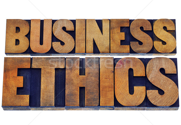 business ethics in wood type Stock photo © PixelsAway