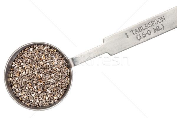 Zaden lepel zaad metaal geïsoleerd Stockfoto © PixelsAway