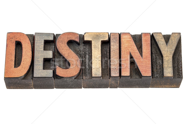 destiny word in vintage wood type Stock photo © PixelsAway