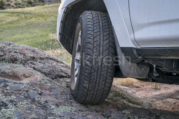Suv rijden af weg 4x4 Stockfoto © PixelsAway