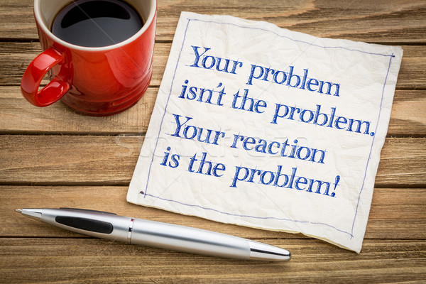 Your problem and reaction Stock photo © PixelsAway