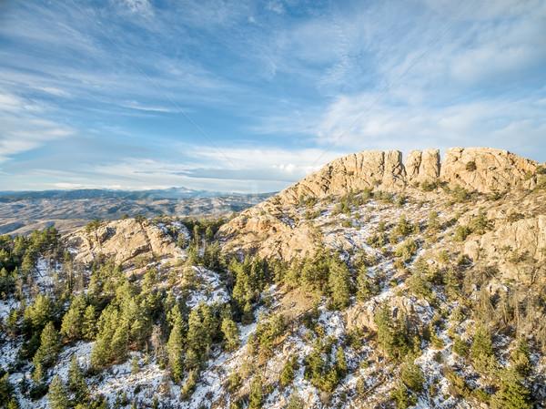 Horsetooth Rock in winter Stock photo © PixelsAway