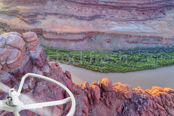 Canyon of Colorado River - aerial photography concept Stock photo © PixelsAway