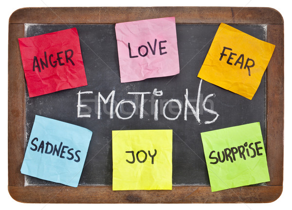love, fear, joy, anger, surprise and sadness  Stock photo © PixelsAway