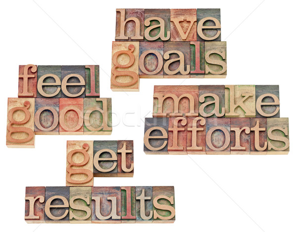 goals, efforts, results, feeling good Stock photo © PixelsAway