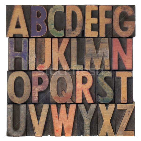 alphabet in vintage wooden letterpress type Stock photo © PixelsAway