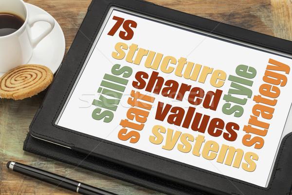 7S model for organizational culture Stock photo © PixelsAway