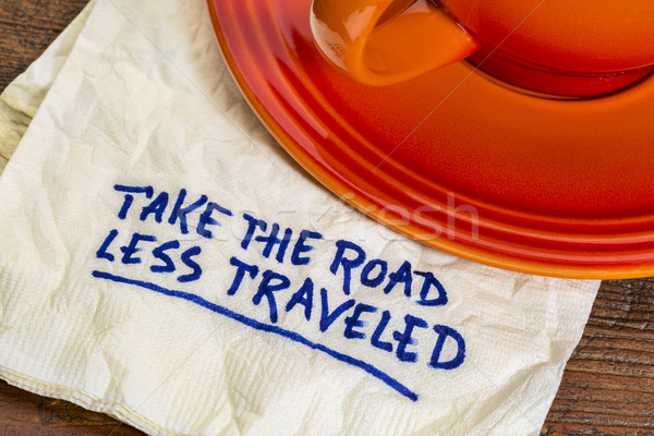 take the road less traveled Stock photo © PixelsAway