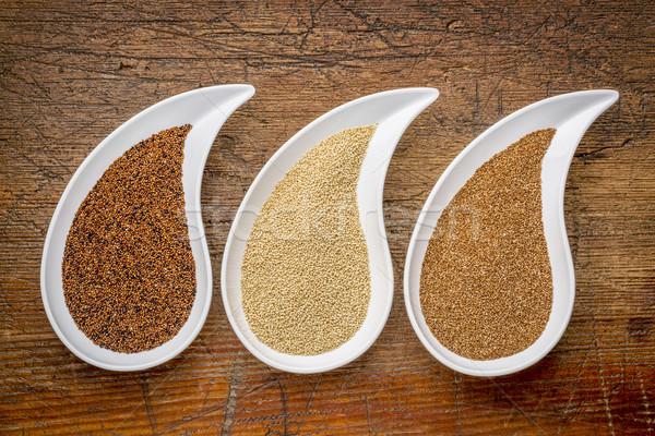 kaniwa, amaranth and teff grain Stock photo © PixelsAway