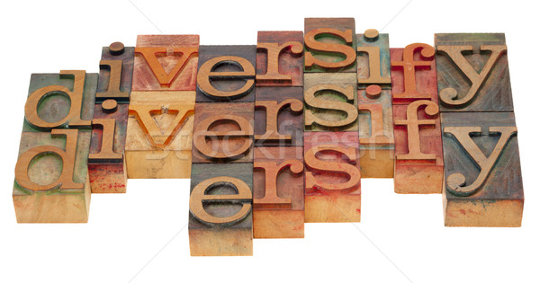 diversify word abstract Stock photo © PixelsAway