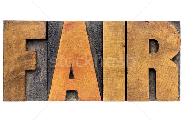 fair word typography Stock photo © PixelsAway