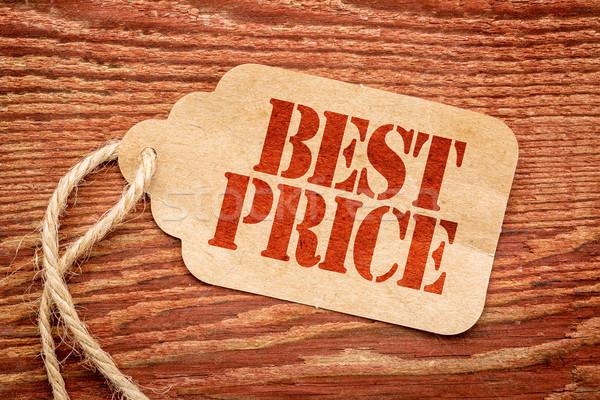 Legjobb ár marketing felirat papír ár címke Stock fotó © PixelsAway