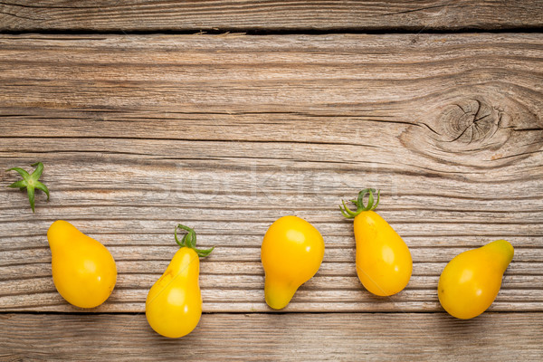 yellow pear tomato Stock photo © PixelsAway