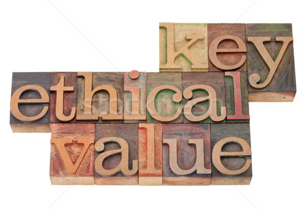 ключевые этический значение бизнеса Vintage Сток-фото © PixelsAway