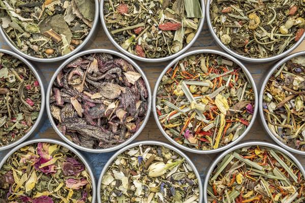Mélange thé ensemble dix chinois Photo stock © PixelsAway