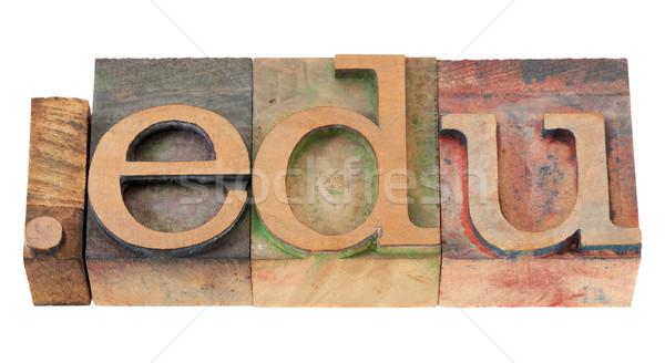 Educación Internet dominio punto educativo vintage Foto stock © PixelsAway