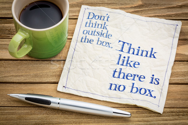 Think like there is no box. Stock photo © PixelsAway