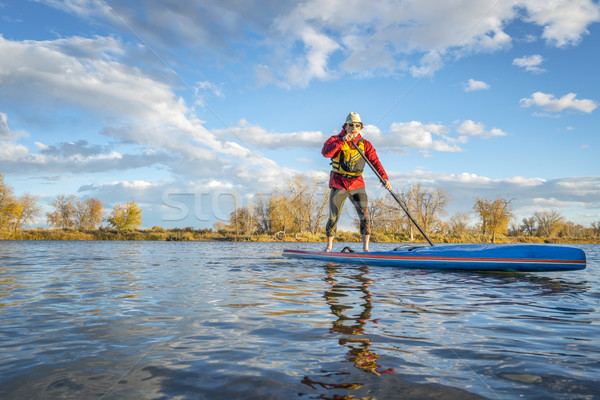 paddling stand up paddleboard in Colorado Stock photo © PixelsAway