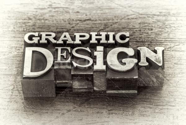 Design graphique mot résumé métal type mixte Photo stock © PixelsAway