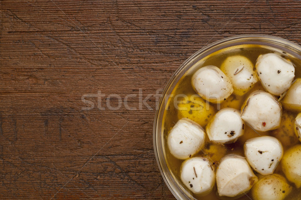 Marinato mozzarella formaggio olio Foto d'archivio © PixelsAway