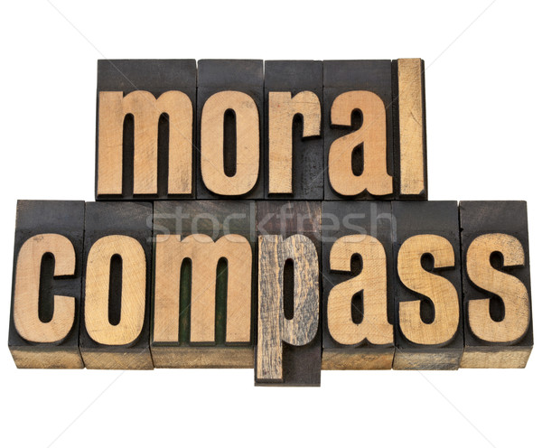 moral compass - ethics concept  Stock photo © PixelsAway