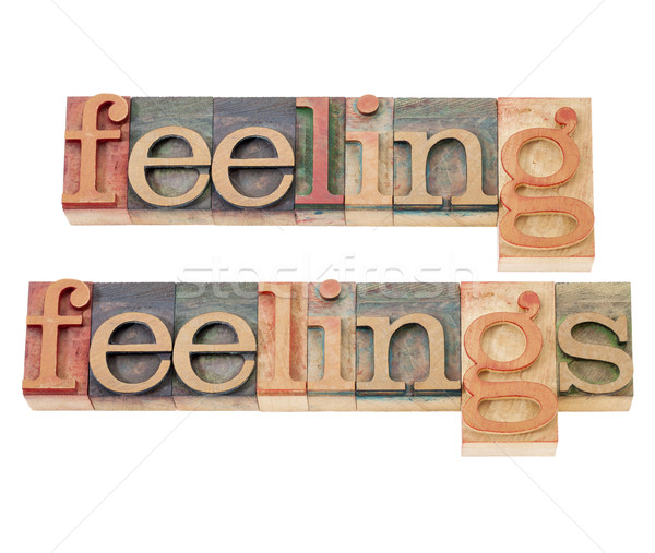 feelings in wood type in wood type Stock photo © PixelsAway