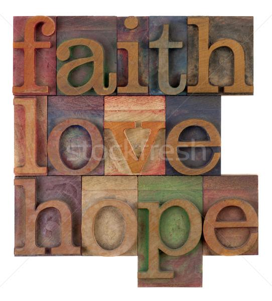 Glauben Liebe Hoffnung geistigen Erinnerung alten Stock foto © PixelsAway
