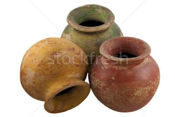 red, green and yellow clay plant pots Stock photo © PixelsAway