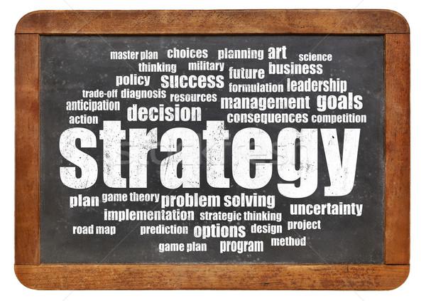 strategy word cloud Stock photo © PixelsAway