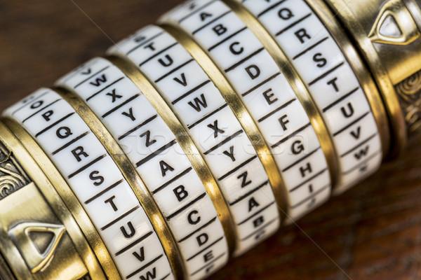 слово пароль комбинация головоломки окна Сток-фото © PixelsAway