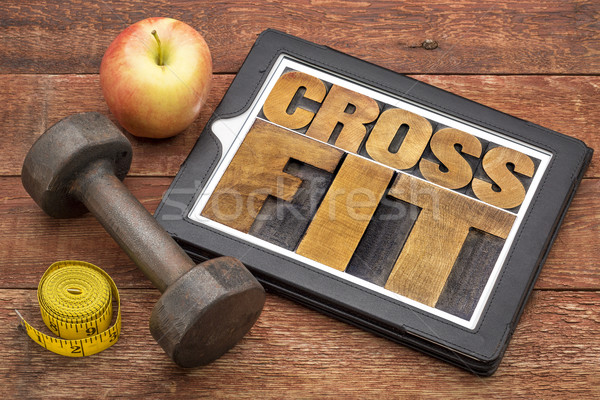 crossfit word abstract on tablet Stock photo © PixelsAway