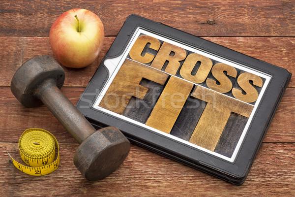 Crossfit mot résumé comprimé texte Photo stock © PixelsAway
