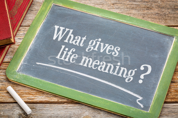 What gives life meaning question Stock photo © PixelsAway