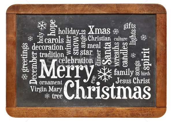 Merry Christmas word cloud Stock photo © PixelsAway