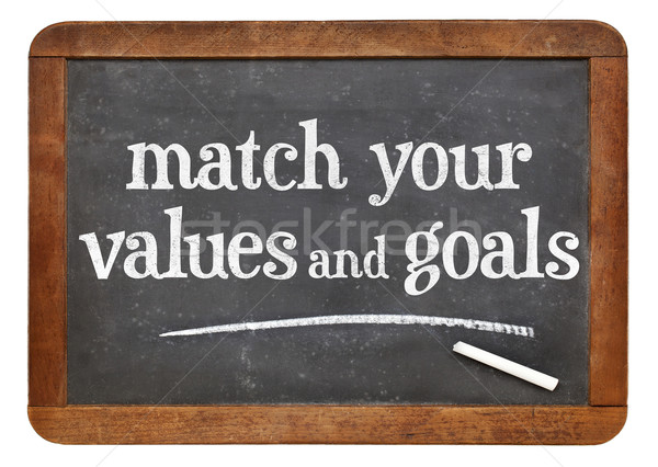 Match your values and goals Stock photo © PixelsAway