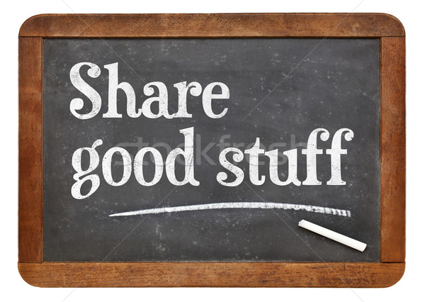 Share good stuff on blackboard Stock photo © PixelsAway