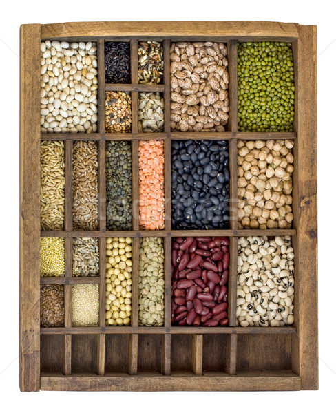 beans, grains and seeds collection Stock photo © PixelsAway