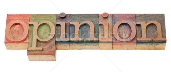 Opinión tipo palabra vintage madera Foto stock © PixelsAway