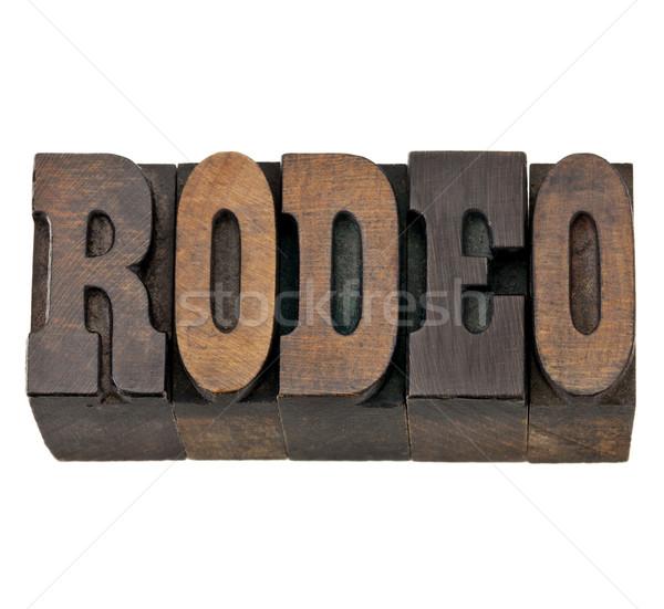 ロデオ 言葉 木材 タイプ 孤立した ストックフォト © PixelsAway