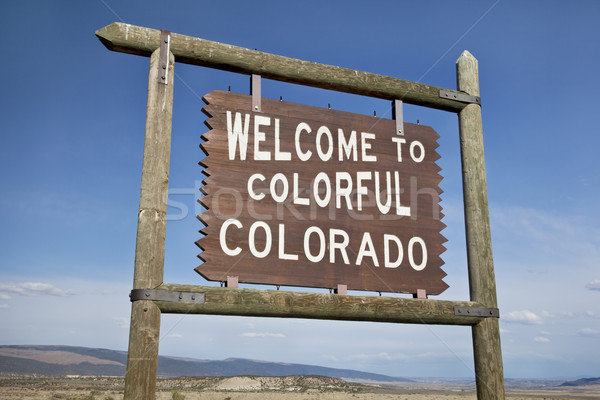 welcome to Colorado roadside sign Stock photo © PixelsAway