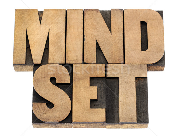 mindset in wood type Stock photo © PixelsAway