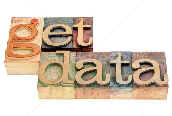 get data in wod type Stock photo © PixelsAway