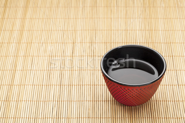 Japans beker thee bamboe traditioneel gietijzer Stockfoto © PixelsAway