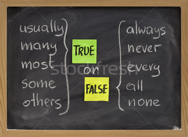 true or false words Stock photo © PixelsAway