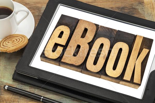 ebook word on digital tablet Stock photo © PixelsAway