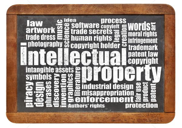 ストックフォト: 知的財産 · 言葉の雲 · 芸術 · ソフトウェア · アイデア · 法的
